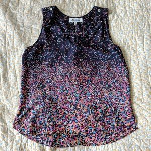 Navy blue blouse with confetti design